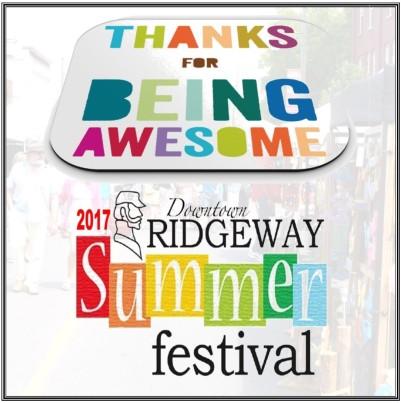 Ridgefest Thank You 2